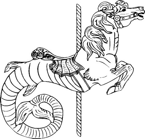 free coloring pages of carousel horses carousel animals coloring pages coloring home