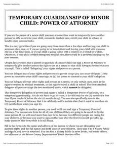 best photos of temporary power of attorney letter sle