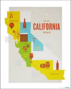 wine country travel posters design work