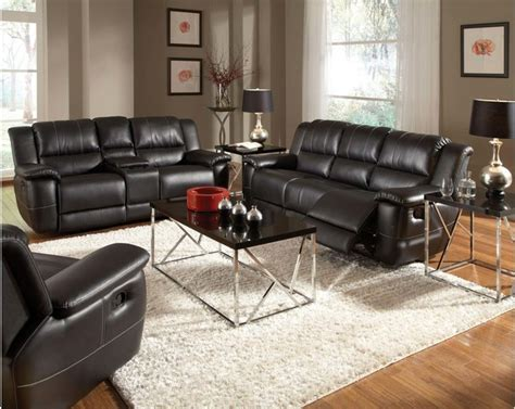 Black Leather Recliner Sofa Set Black Leather Reclining Sofa Loveseat Recliner