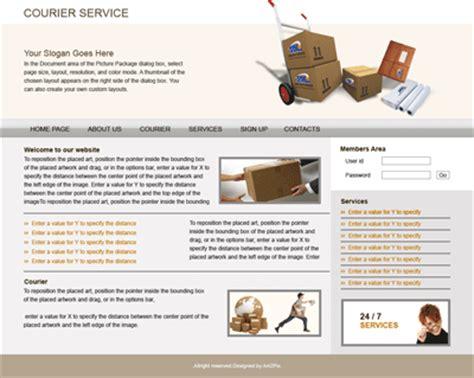 Web Design Company Kolkata Software Development India Joomla Word Press Courier Website Template