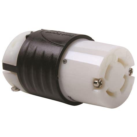 Lq 06 120 Miau 4w pass seymour 174 3433 ss locking connector 120 208 vac 30 a 4 poles 4 wires black white