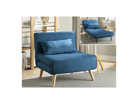 venta de sillon cama sill 243 n cama posio de tela azul l 74xan 78xalt 75 cm