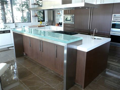 Glass2 Countertops by The Glass Counter Breakfast Bar By Cgd Glass Cgd Glass