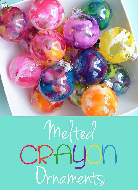 diy ornaments crayon 35 diy ornaments to make with melted crayons