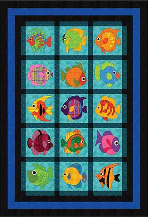 Fish Quilts Patterns by Wonderfully Fishy Quilt Pattern