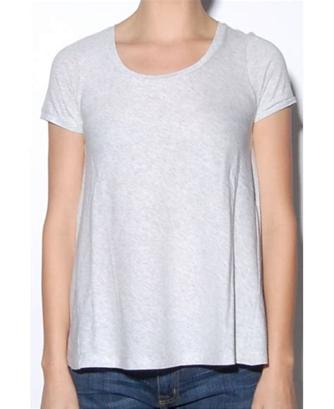 swing tee shirts demylee heather grey moss swing t shirt in gray lyst