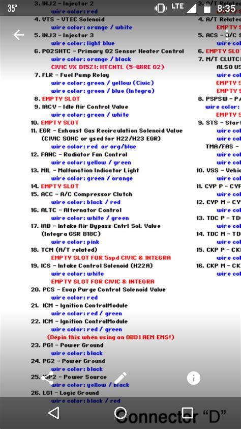 obd2 to obd1 distributor wiring harness obd2b distributor