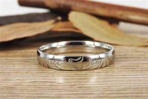 handmade two become one matching wedding rings