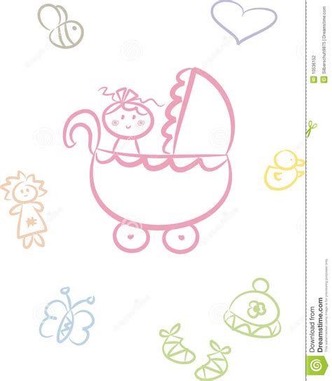 doodle doodle baby baby doodle set stock photography image
