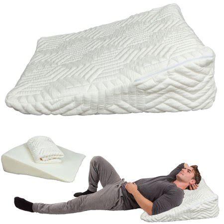 ktaxon memory foam wedge pillow bed  lumbar neck support comfort sleep adjustable walmartcom