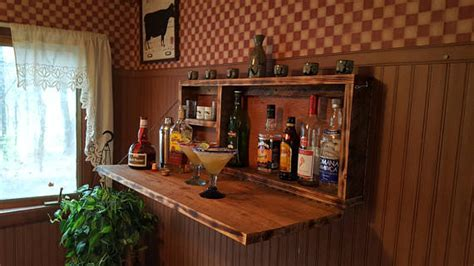 wall mounted bar cabinets for home rustic murphy bar wall mount bar man cave liquor cabinet