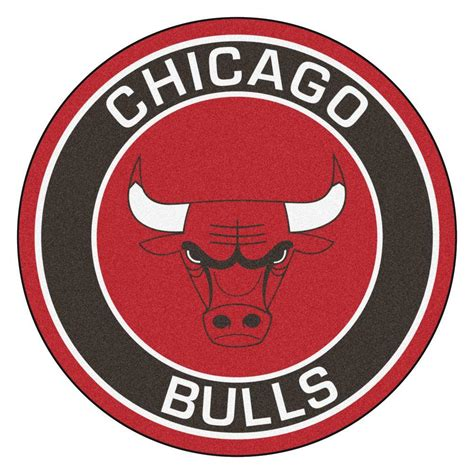 chicago bulls rug fanmats nba chicago bulls black 2 ft 3 in x 2 ft 3 in accent rug 18830 the home depot