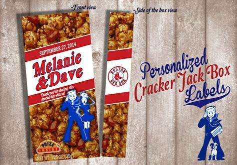 cracker jacks wedding favors digital cracker label wedding favor birthday favor