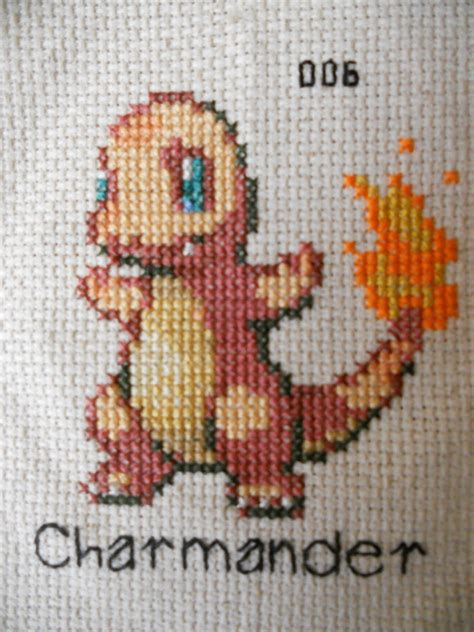 cross stitch charmander cross stitch by mickeycricky on deviantart