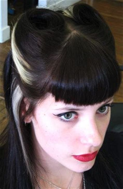 side bangs roll 7031 best rockabilly hairstyles images on pinterest