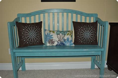 baby crib bench bench made out of baby crib diy pinterest