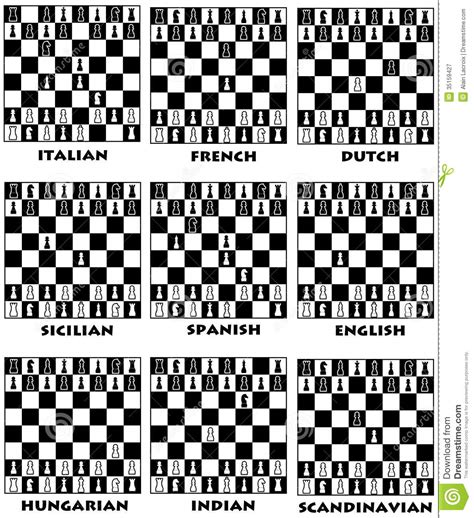 chess openings stock illustration image of objectives