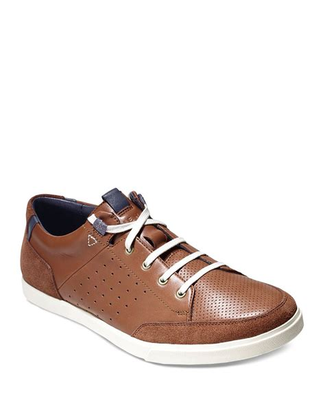 leather sneakers cole haan owen sport leather sneakers in brown for