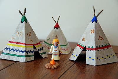 Make A Teepee Out Of Paper - that artist how to make mini teepees tipi