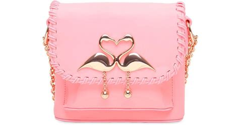 D 010 Diony Pink webster claudie flamingo leather shoulder bag in pink lyst