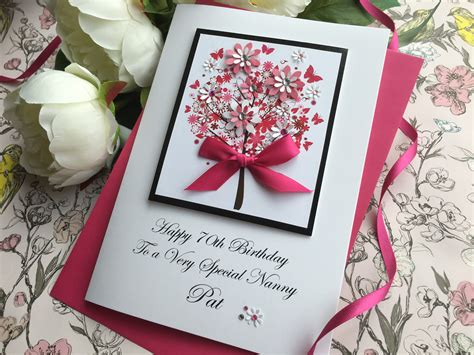 Handmade Greetings Cards Uk - luxury birthday cards handmade cardspink posh