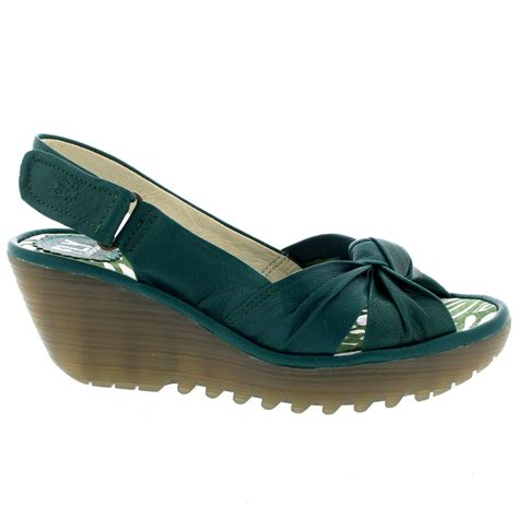 fly sandals womens fly yman mousse mid wedge heel peep toe