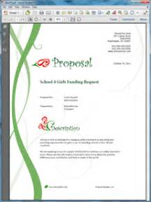 sample business proposal software funding request