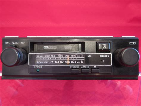 cassette car radio philips classic car radio cassette player 1981
