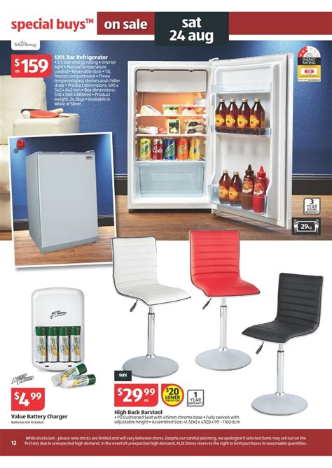 aldi bar stools aldi catalogue special buys week 34 2013 page 12