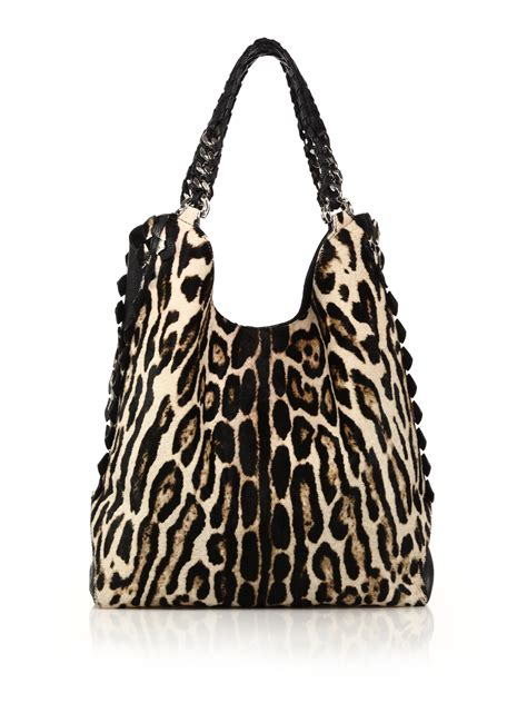 Roberto Cavalli Canvas Leopard Shopper by Page 2 Tvshoppingqueens