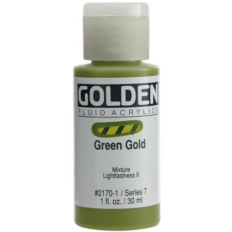 acrylic paint golden golden fluid acrylic paint 1oz green gold