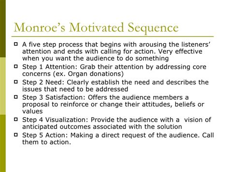 monroe motivated sequence pattern of organization chapter 12 types of organizational arrangements