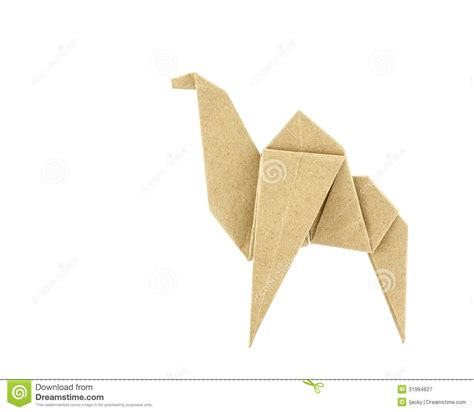 Camel Origami - origami camel recycle paper royalty free stock photography