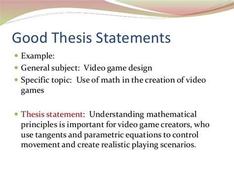 How To Make Thesis Statement For A Research Paper - writing a thesis statement