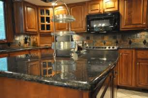 Kitchen Backsplash Ideas With Black Granite Countertops by Granite Countertops And Tile Backsplash Ideas Eclectic