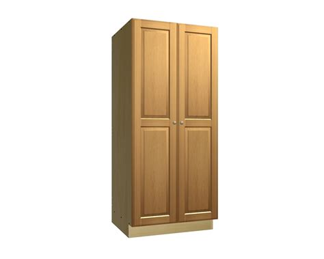 Kitchen Cabinet Door Styles 2 door tall pantry cabinet
