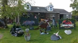 gala day garden decorations props jurassic park dinosaurs