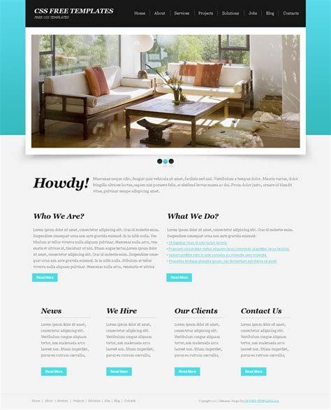 Basic Blue Website Css Template With Great Jquery Slider Website Css Templates Simple Css Templates