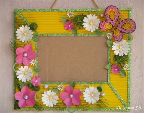 Handmade Newspaper Crafts - 17 best images about handmade photoframe ideas on