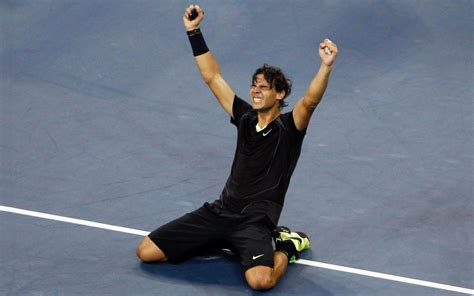 rafael nadal victory tenis black equipment  wide tennis