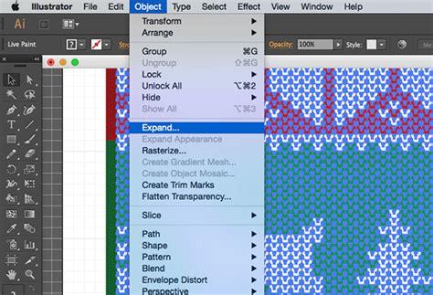 illustrator ungroup pattern узор для вязанного свитера adobe illustrator