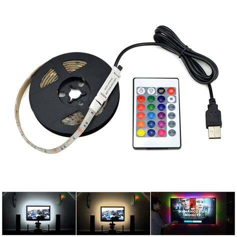 remote control light adapter 3528 smd dc5v usb charger adapter led strip light white