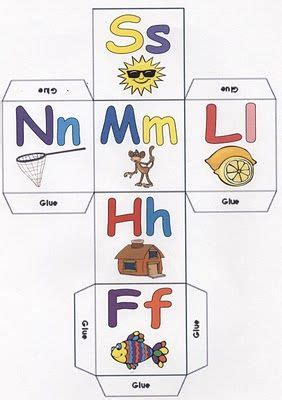 free printable alphabet dice letter dices game learn language arts early literacy