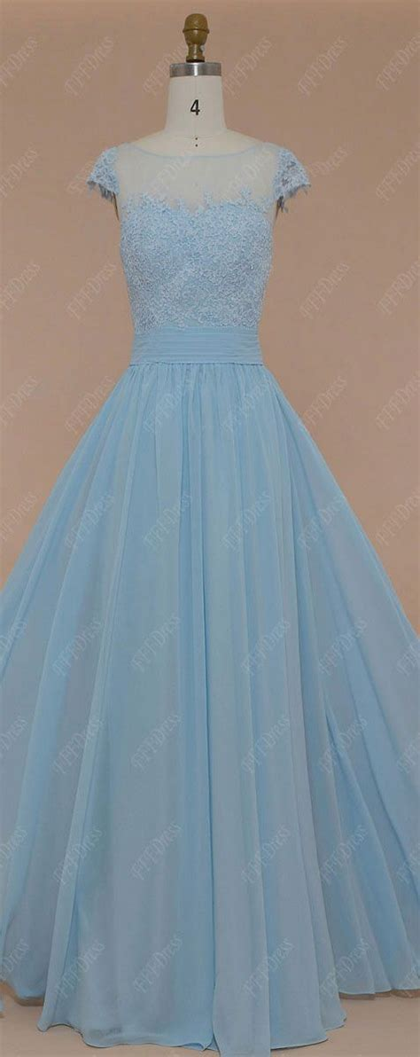 light blue lace dress with sleeves modest ice blue prom dresses long lace prom dresses cap