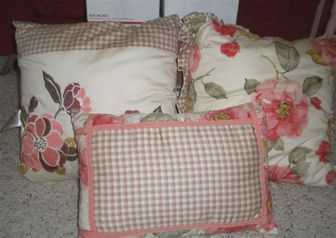 decorative bed pillow sets decorative bed pillows peri bouquet pink floral tan plaid