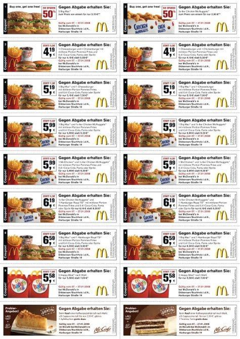 Mcdonalds Printable Coupons August 2017
