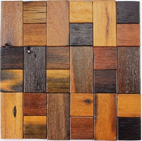 pattern wood panel natural wood mosaic tile rustic wood wall tiles nwmt018