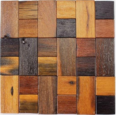 wood mosaic tile rustic wood wall tiles nwmt018