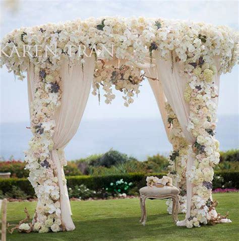 Indoor Wedding Ceremony Arch Decorations with flowers